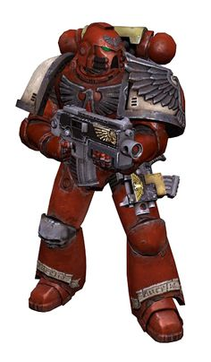Armor designs from the Space Marine game. Blood Ravens