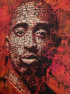 Typography Portrait Series - Tupac Shakur by cris wicks, via Behance