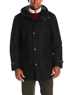 """Wool blend button front bench warmer with attached hood       Famous Words of Inspiration...""""I know nothing about sex because I was always married.""""   Zsa Zsa Gabor — Click here for more from Zsa Zsa...  More details at https://jackets-lovers.bestselleroutlets.com/mens-jackets-coats/wool-blends-mens-jackets-coats/product-review-for-london-fog-mens-wool-blend-bench-warmer-coat-with-attached-hood/"""