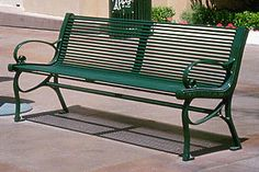 Model CS-138: This horizontal solid steel rod bench is one of the most durable, strong and distinctive benches in the Classic Series.