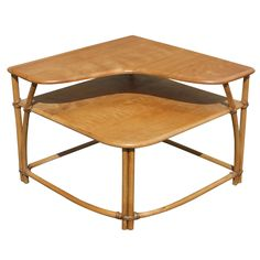 "Heywood-Wakefield ""Ashcraft"" Two-Tier Corner Table $695 via eBay"