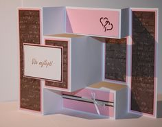3fold wedding card Folded Cards, I Card, Wedding Cards, 3d, Home Decor, Wedding Ecards, Decoration Home, Room Decor, Home Interior Design
