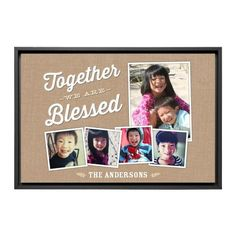 Blessed Family Canvas Print, Black, Single piece, 20 x 30 inches, Brown