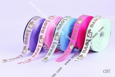 50yard 25mm Mixed Color Heart Satin Ribbon Cord