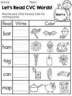 Worksheets Cvc Worksheets For Kindergarten cvc sound write part of the winter kindergarten literacy autumn no prep language arts worksheets