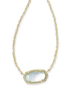 Elisa Pendant Necklace in Light Blue Illusion - Kendra Scott Jewelry.