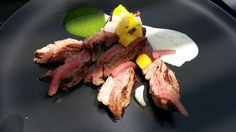 Pineapple Marinated Skirt Steak, Ramp Sauce, Citrus Crème Fraîche ...