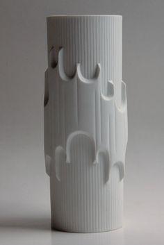 """Porcelain Bisque """"Batman"""" Vase - Scherzer 1960s"""