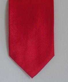 Daniel ELLISSA New York MENS TIE NECKTIE RED SATIN AMAZING TIE starting at 3.95