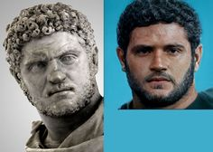 """I used Artbreeder to try and """"colorize"""" the bust of the roman emperor Caracalla : interestingasfuck Roman Emperor, Getty Villa, 5 Hours, Michelangelo, Alien Logo, How Are You Feeling, Sculpture, Physique, Art"""