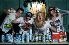My friends band 'The Morning After'. This shoot was good fun but pretty messy!
