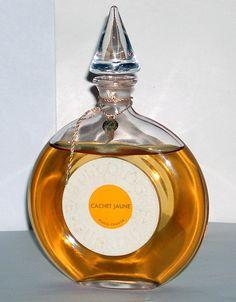 Maison Guerlain recreates its past: Cachet Jaune Old Perfume Bottles, Special Gifts, Glass Art, Nostalgia, Fragrance, Notes, Memories, Vintage, Memoirs
