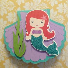 Reserved Listing  10 Little Mermaid by PaperDivaInvitations