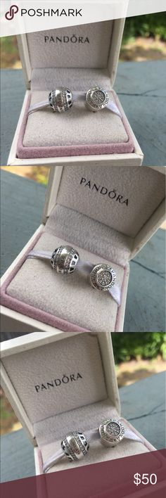 Authentic Pandora Charms Selling my two authentic Pandora charms that I no longer use box not included Pandora Jewelry Bracelets