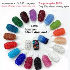Cerca de 1440 pçs/saco 1.3mm nail art strass Micro Pedrinhas Mini nail art strass Decorações da arte Do Prego strass