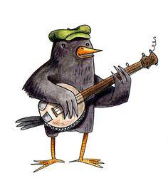 Blackbird Plays Banjo