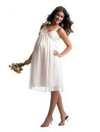 Pregnant Wedding Short Dress - Wedding