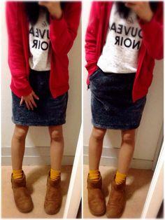 こんちは♡  なーんかラッキーな予感がしてる あずぽです。← なんもないねんけど…笑  昨日のちょっと出るだけコーデ♡ UNIQLOのボアスカート めちゃ暖かかった♡ GUのパーカーはメンズだよー♡  Blogもよろしゅう♡ http://s.ameblo.jp/azupo08/ しょーもないBlogですん♡← コーデ詳しく載せてたり 他も色々書いてるので 是非あそびに来てください♡