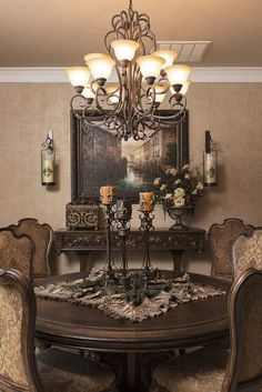 Delightful and luxurious western dining room design 12 - Rockindeco - Delightful . - Delightful and luxurious western dining room design 12 – Rockindeco – Delightful and luxurious - Dining Room Colors, Dining Room Design, Dining Room Table, Dining Furniture, Tuscan Furniture, Kitchen Tables, Design Kitchen, Dining Area, Tuscan Dining Rooms