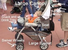 What to look for in a stroller at Disney World!