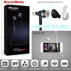 Bluedio M2 Bluetooth Wireless Sports Stereo Waterproof Headset Earbuds Earphone