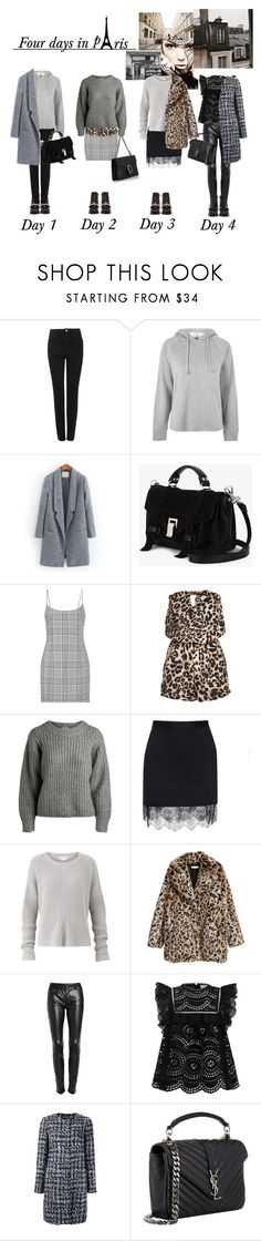"""""""Four days in pAris"""" by sascha-haarup on Polyvore featuring Givenchy, Topshop, Proenza Schouler, Alexander Wang, Carven, Amanda Wakeley, BLANKNYC, Zimmermann, Dolce&Gabbana and Yves Saint Laurent"""