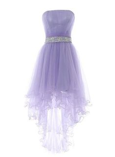 High Low Prom Dresses 2018 Lavender High Low Homecoming Dress Featuring Strapless Straight Across Ruched Bodice with Beaded Embellished Belt High Low Prom Dresses, Cute Prom Dresses, Pretty Dresses, Beautiful Dresses, Short Dresses, Purple Homecoming Dresses, Amazing Dresses, Wedding Dresses, Bridesmaid Dresses