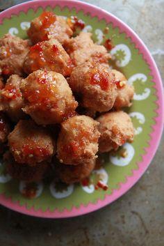Crispy Shrimp Coconut Beignets (gluten free, dairy free, and egg free)