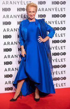 udvaros-dorottya Actors & Actresses, Dresses With Sleeves, Long Sleeve, Fashion, Moda, Sleeve Dresses, Long Dress Patterns, Fashion Styles, Gowns With Sleeves
