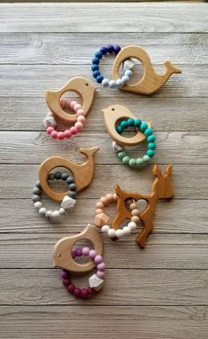 Silikon-Beißring Holz-Beißring Baby-Beißring Bio-Beißring - Care - Skin care , beauty ideas and skin care tips Wooden Baby Toys, Wood Toys, Wood Kids Toys, Toddler Boy Gifts, Toddler Toys, Baby Teethers, Teething Toys, Baby Crafts, Toys For Girls