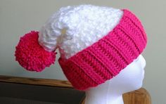 Crocheted Chunky Slouchy Hat for Girls and Teens by CuddleinCrochet on Etsy