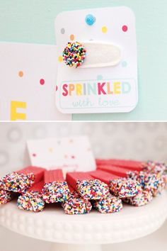 sprinkled-with-love - also love the idea to dip wafers in chocolate then sprinkles!