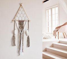 Dreamcatcher dream catcher wood triangle wall hanging macrame