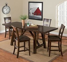 Appleton Dining Room Collection | Furniture.com. Featuring handsomely upholstered, ladder-back stools, this counter-height dinette is perfect for entertaining as well as everyday use.