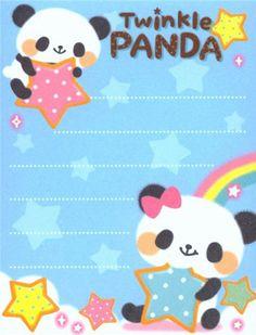 kawaii bears panda star mini Memo Pad  3