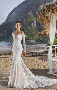 Cheap wedding dress backless, Buy Quality mermaid wedding dresses backless directly from China bridal gown Suppliers: 2017 See Through Lace Mermaid Wedding Dresses Backless with Appliques Long Sleeves vestido de noiva Lace Bridal Gowns Handwork Wedding Dresses 2018, Wedding Dress Styles, Bridal Dresses, Long Sleeve Wedding, Perfect Wedding Dress, Beautiful Gowns, Bridal Collection, Marie, Mermaid Wedding