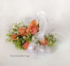 Rose of Sharon Floral Designs, Peach Rose Corsage