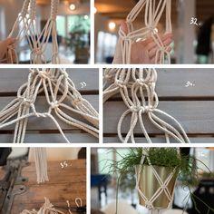 Homemade Macrame Plant Hanger – Instructions Source by Macrame Tutorial, Diy Tutorial, Diy Love, Macrame Plant, Macrame Design, Macrame Projects, Macrame Patterns, Crafty Craft, Plant Hanger