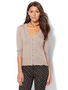 Shop 7th Avenue Design Studio - V-Neck Chelsea Cardigan . Find your perfect size online at the best price at New York & Company.