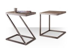 Swoon Editions Industrial style side table: The Z-shaped Sullivan, just Swoon Editions, Design Crafts, Industrial Style, Desk, Shapes, Living Room, Side Tables, Room Ideas, House
