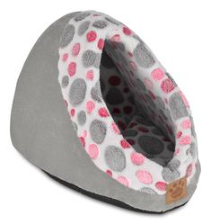 Precision Pet Hide and Seek Corduroy Bed, Pink Spot Plush Gray >>> You can get more details by clicking on the image. (This is an Amazon affiliate link)