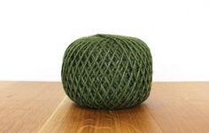 Green jute twine ball