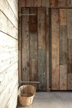 WABI SABI Scandinavia - Design, Art and DIY | reference for using metal hardware on reclaimed lumber