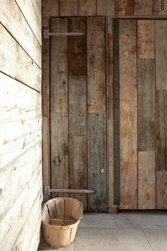 WABI SABI Scandinavia - Design, Art and DIY | reference for using metal hardware on reclaimed lumber
