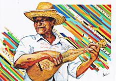 Arte Colagem, artista brasileiro, pintura, poesia. Foto original: Paulison Miura