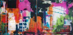 """Saatchi Art Artist Veron Ennis; Painting, """"Pixel West"""" #art"""