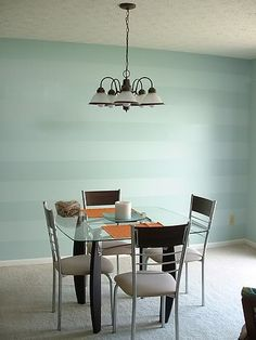 Awesome Accent Wall Ideas For Your chic home, bedroom, small living room, color combinations, paint pattern Striped Walls Horizontal, Striped Accent Walls, Diy Home Decor, Room Decor, Accent Walls In Living Room, Small Living Rooms, Bedroom Small, Small Bathroom, Master Bathroom
