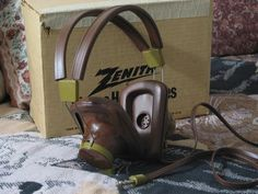 A Junkee Shoppe Junk Market Stop: ZENITH Old Stereo Headphones In Original Box Unused ... For Sale Click Link Here To View >>>> http://ajunkeeshoppe.blogspot.com/2016/01/zenith-old-stereo-headphones-in.html