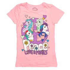 Tシャツ レディース 新品 マイリトルポニー My Little Pony Peace Love Youth T Shirt