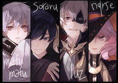 Mafumafu, Soraru, Luz & Nqrse <<< but halloween is so far away now. Cute Anime Guys, All Anime, Anime Art, Anime Boys, Vocaloid, Anime Chibi, Anime Style, Otaku, Character Inspiration